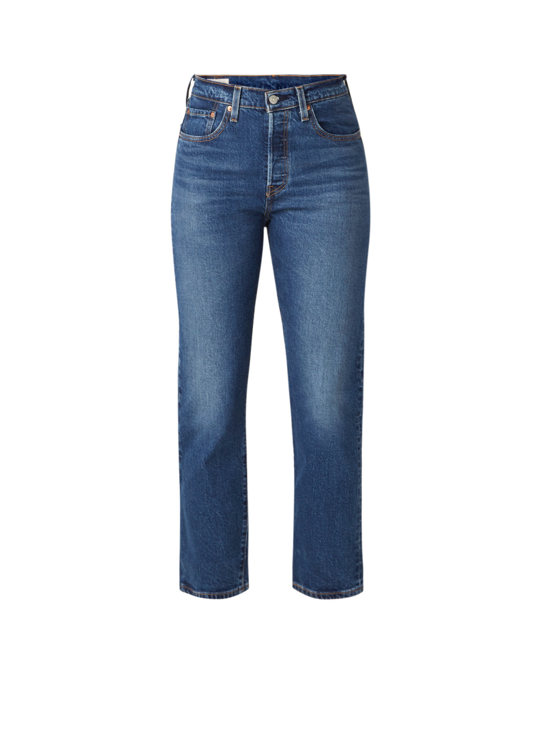501 High waist straight fit cropped jeans