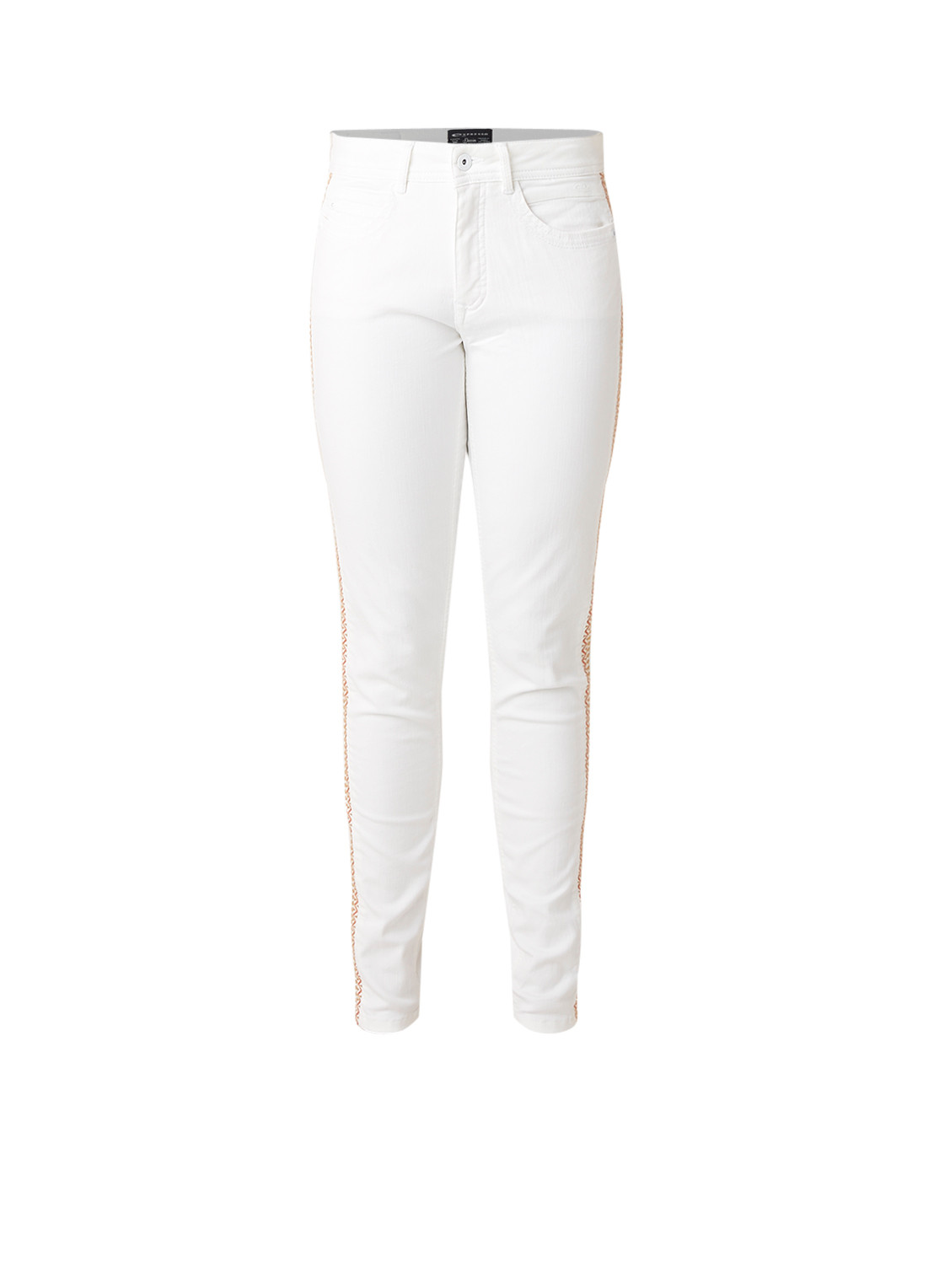 Expresso Calista slim fit jeans met stretch en borduring
