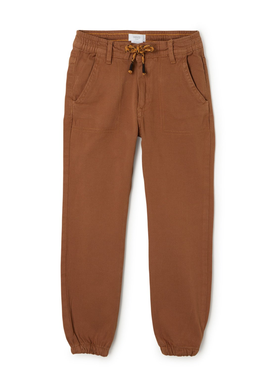 MANGO Cord tapered fit cargo jogger met stretch