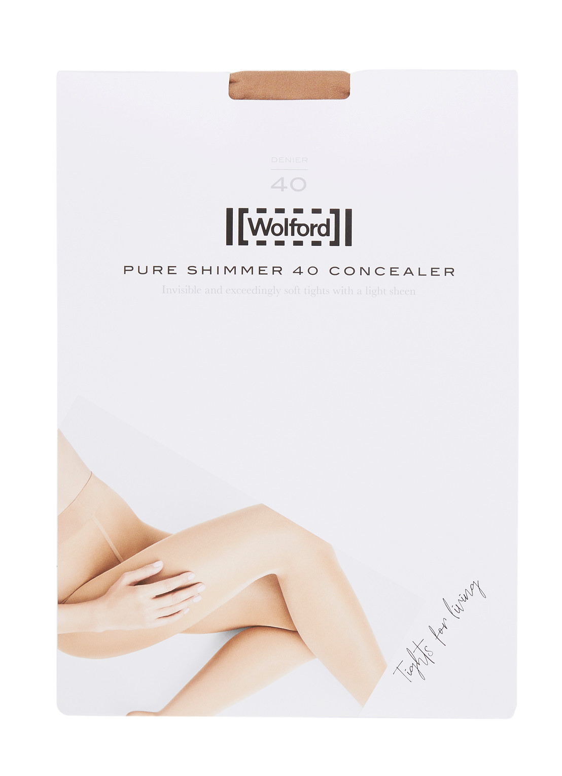 Wolford Pure Shimmer Concealer panty in 40 denier