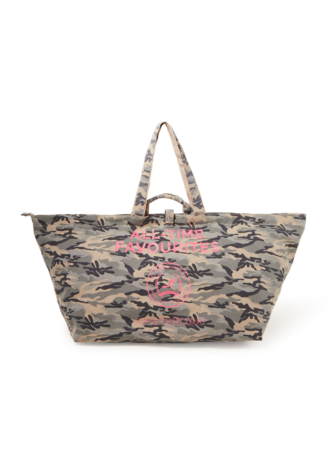 All-Time Favourites Camouflage shopper groot van canvas met dessin