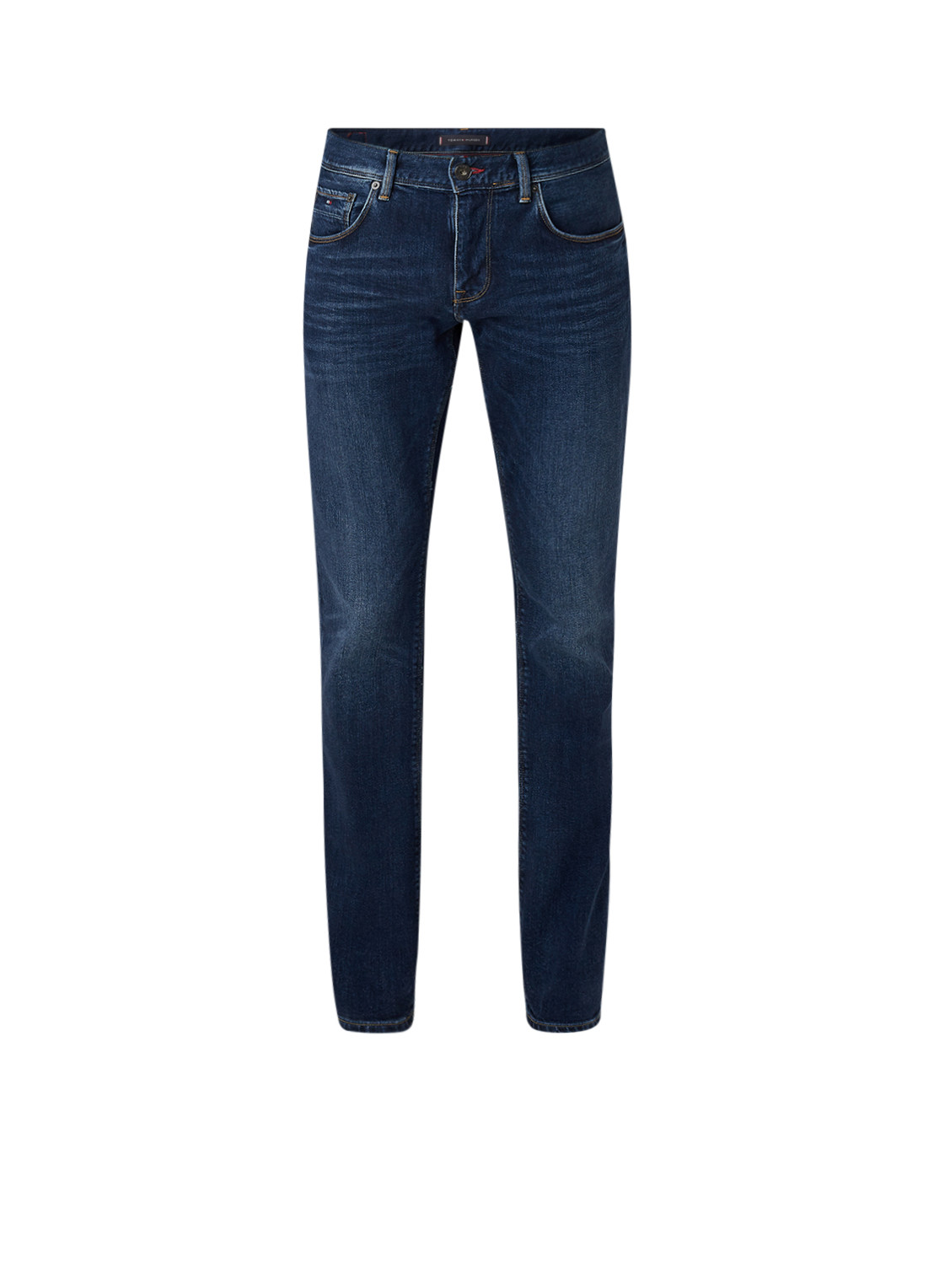 Tommy Hilfiger Straight fit jeans met donkere wassing