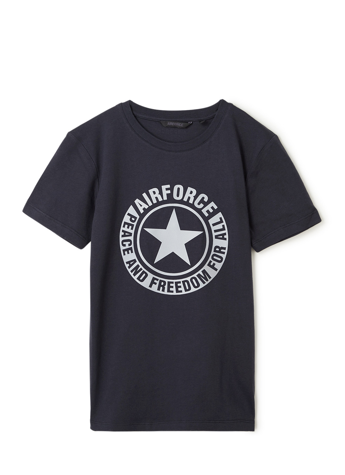 Airforce T-shirt met reflecterende logoprint
