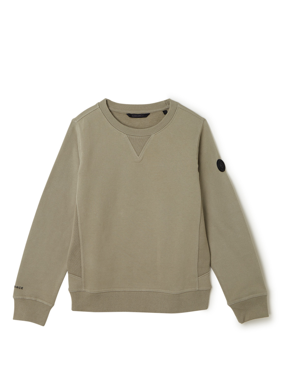 Airforce Sweater met merkapplicatie
