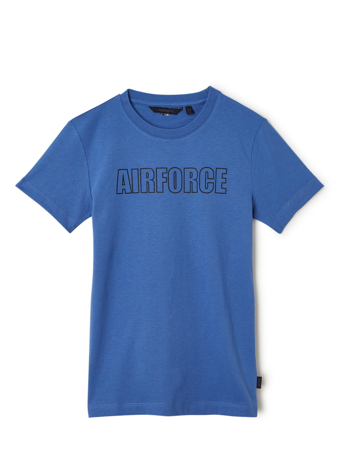 Airforce T-shirt van gerecycled polyester met logoprint