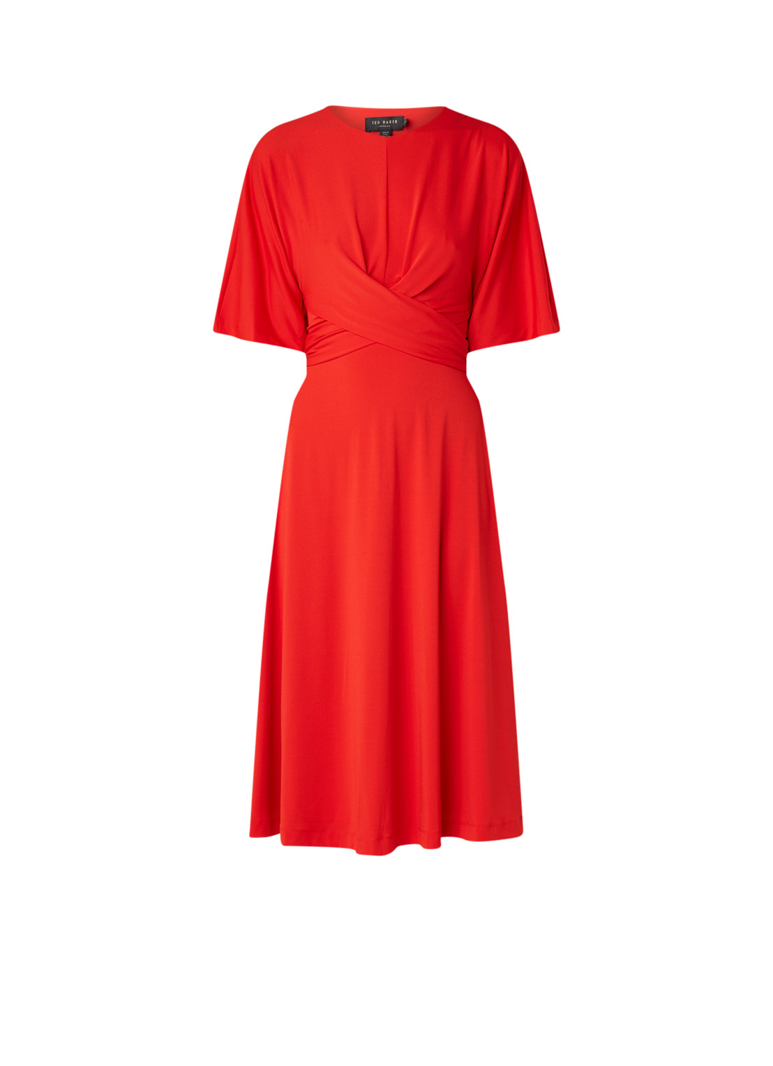 Ted Baker Midi-jurk met strikdetail en cut-out rood