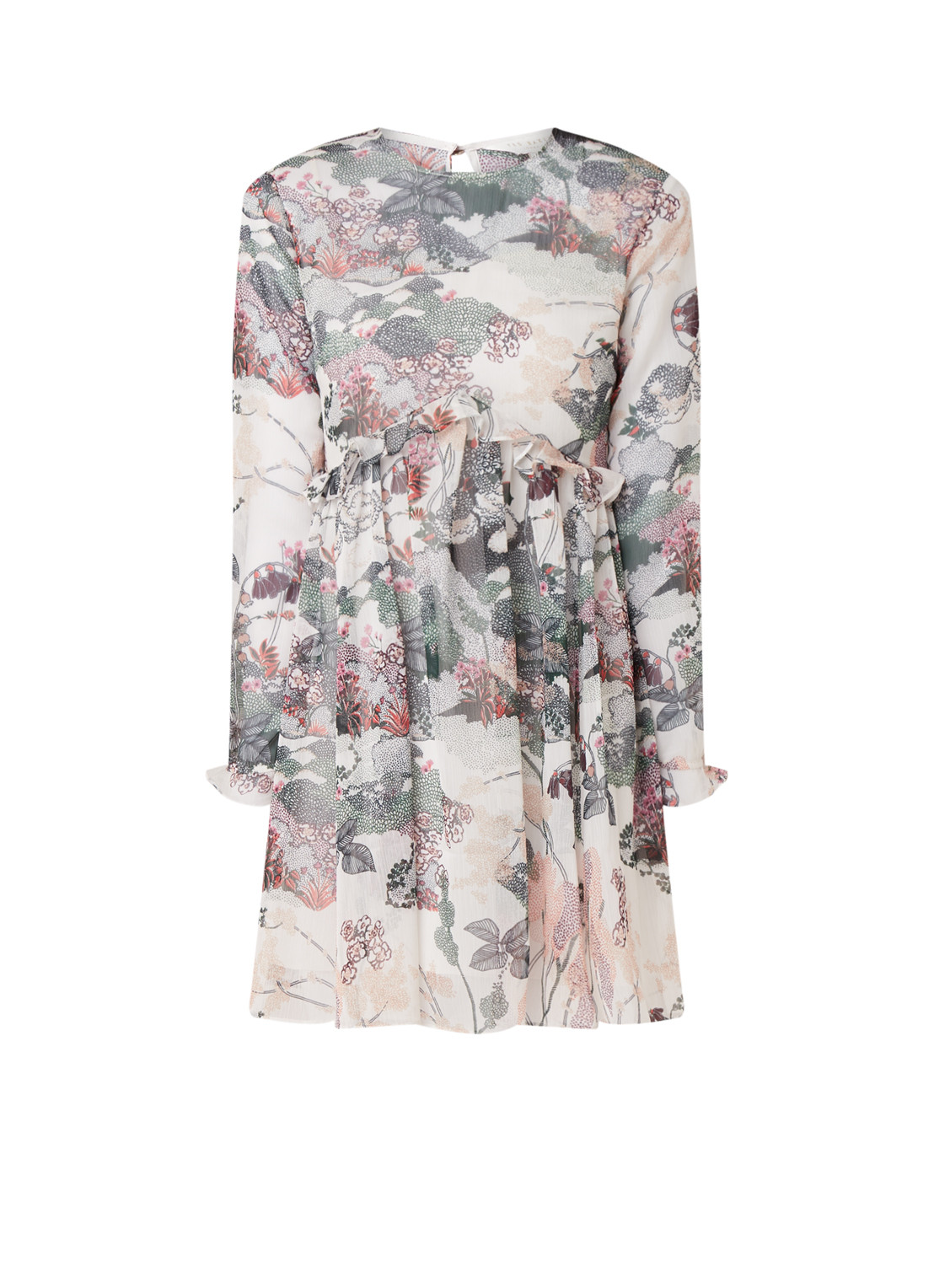 Ted Baker Willow semi-transparante tuniekjurk met onderjurk multicolor
