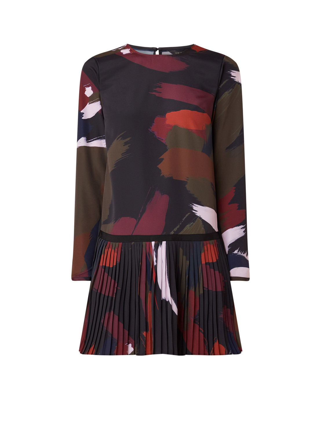 Ted Baker Rosarn mini-jurk met abstract dessin zwart