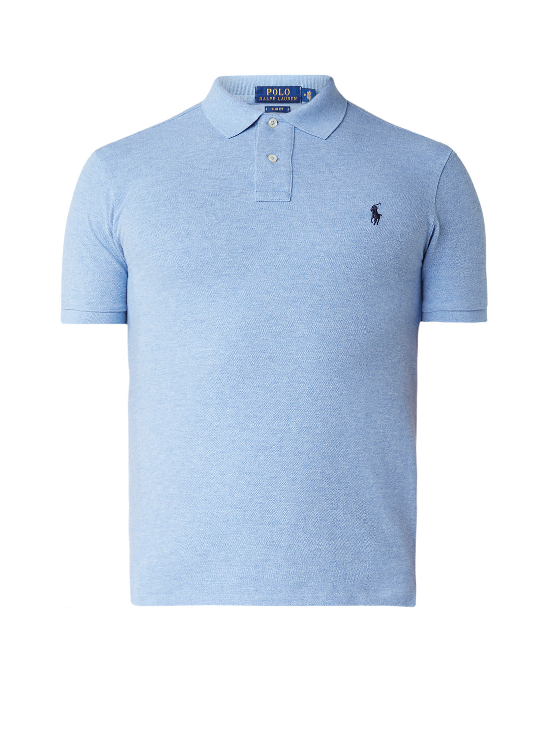 Ralph Lauren Slim fit polo in uni met logoborduring