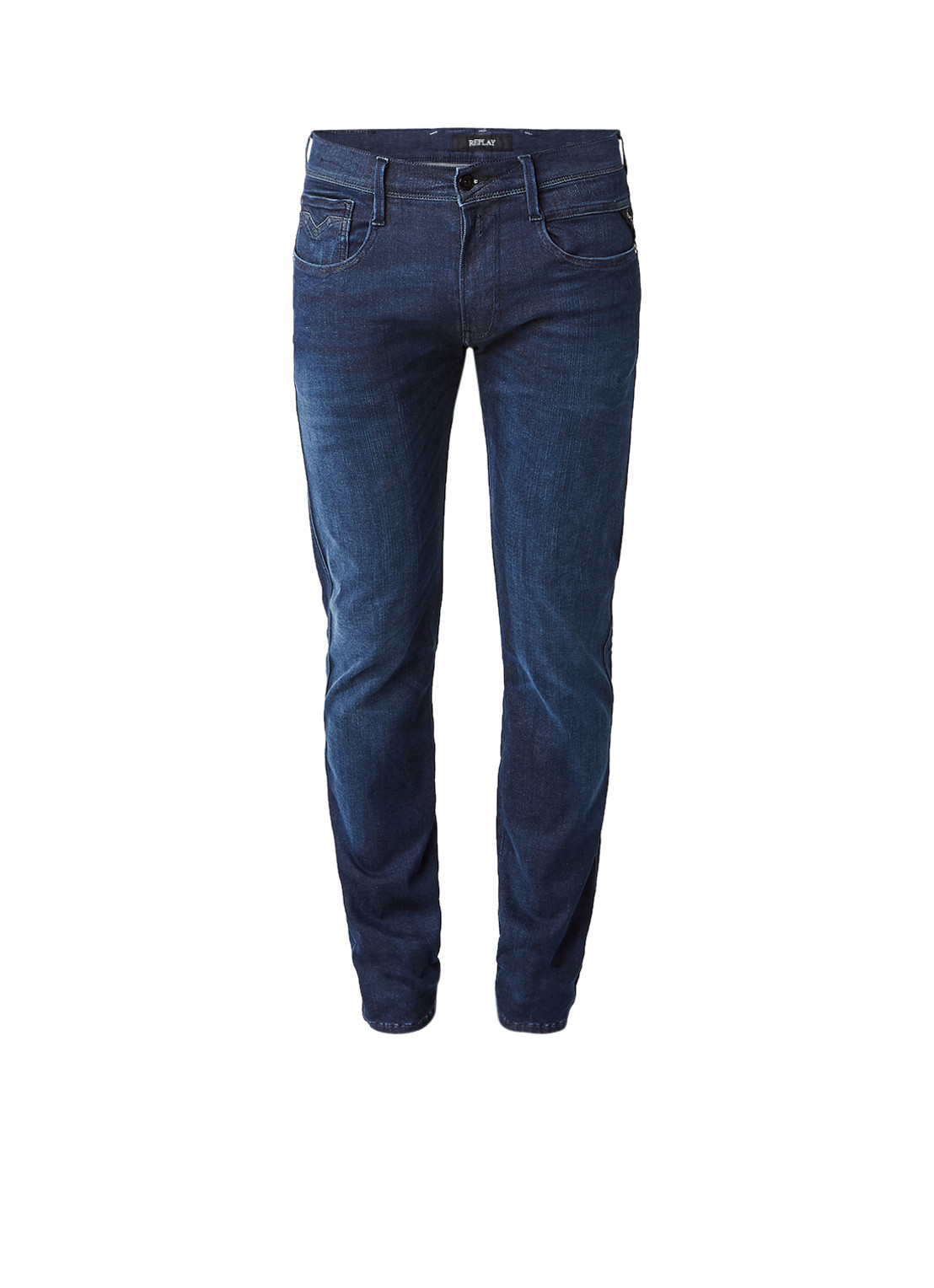Replay Anbass skinny fit jeans met faded look