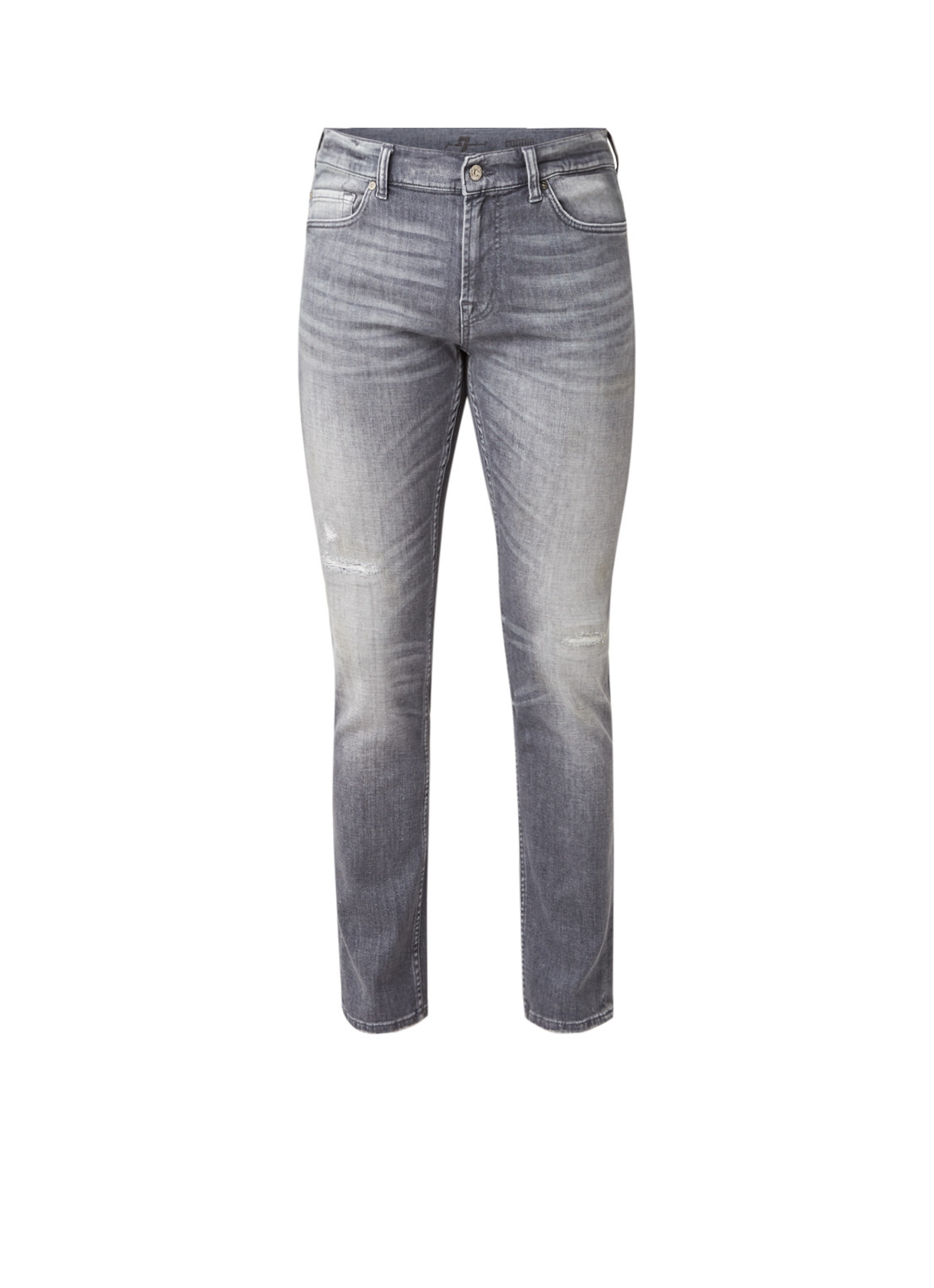 7 For All Mankind Ronnie slim fit jeans met lichte wassing