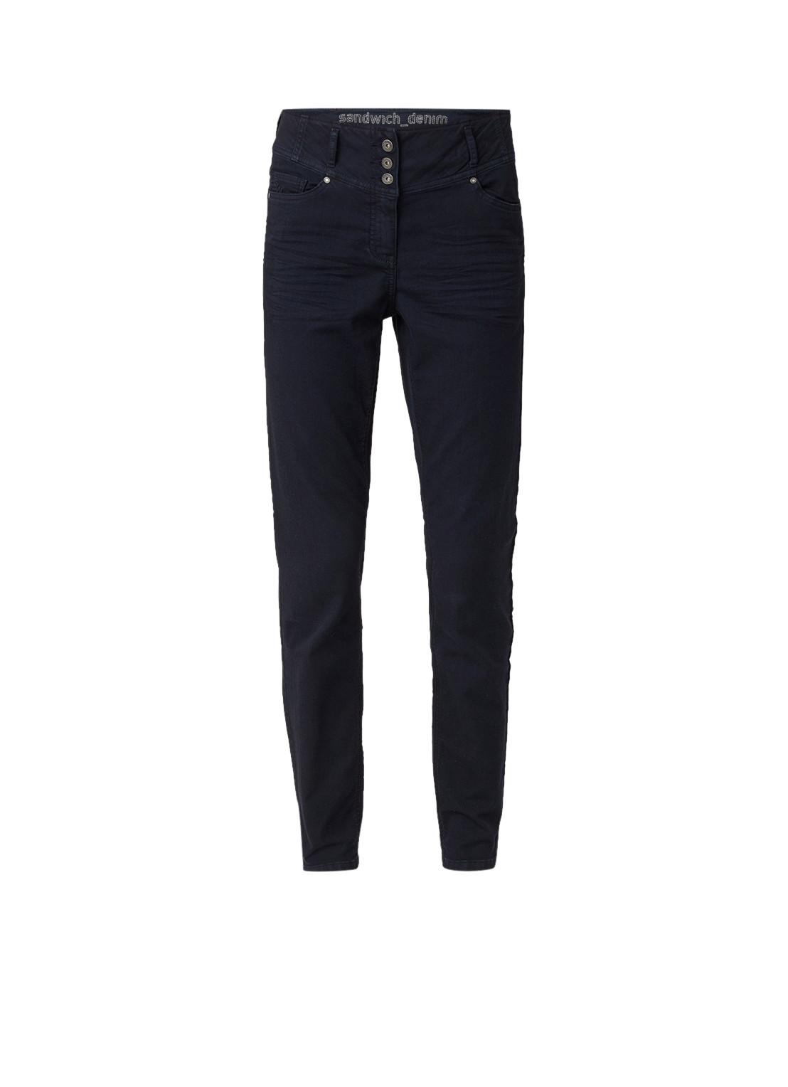 Sandwich High rise slim fit jeans met donkere wassing